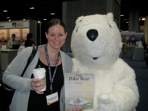 Catherine and Hans the Polar Bear at ALA