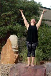 Catherine doing yoga